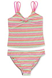 Fluro Striped Tankini [T74-8215W-S]