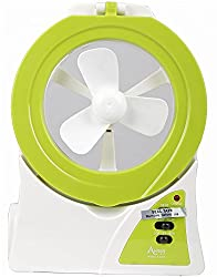 JetiSmart Table Lamp With Fan and LED Torch Emergency Lights (White and Green)
