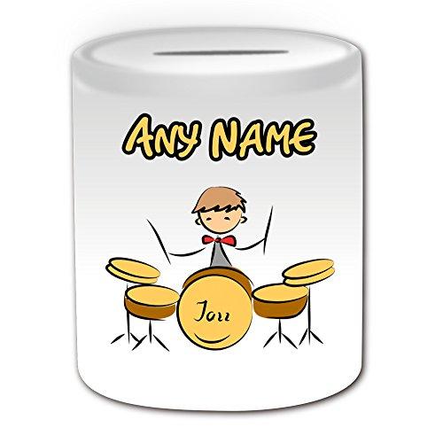 Personalisiertes-Geschenk-Drum-Set-Spardose-Sport-und-Hobby-Design-Thema-wei-alle-NachrichtName-auf-Ihre-einzigartige-Musik-Kit-Drummer-Jazz-Sticks-Band-Rock-Musical-Instrument-Player