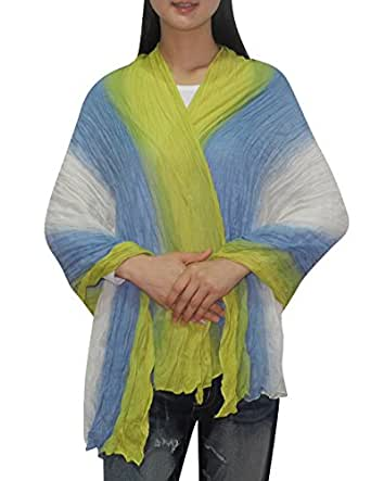 Womens Comfortable \u0026 SuperSoft Mesh Ruffled Neck Scarf \/ Shawl \/Wrap one size Multicolor