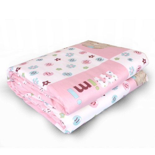 Dele Double Liner Increase Natural Cotton The Baby Quilt Children Washable Winter Quilt (Pink) front-796682