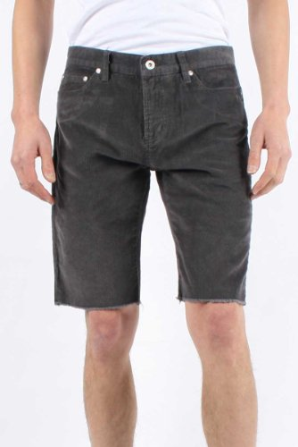 Stussy - Mens Washed Cord 5 Pocket Shorts In Grey, Size: 32, Color: Grey