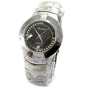 'french touch' reloj de pulsera 'High Tech' de metal gris.