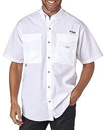 Columbia Men\'s Bonehead Short-Sleeve Work Shirt, White, 3XL