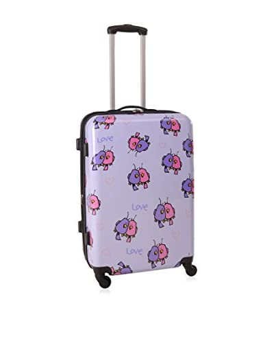 Ed Heck Multi Love Birds 25 Hardside Spinner Luggage, Light Purple