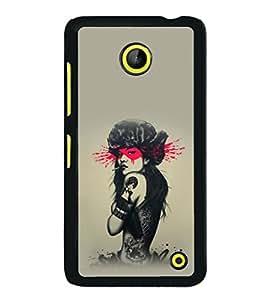 printtech Pop Culture Girl Back Case Cover for Nokia Lumia 630