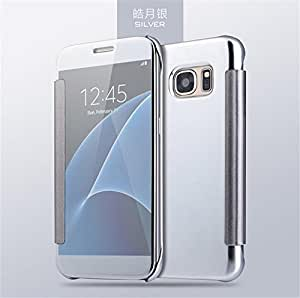 Delkart Luster Mirror View Flip Cover for Samsung Galaxy Note 7 (Silver)