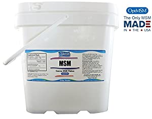 Kala Health - MSM Powder (OptiMSM) Coarse Flakes (10 Pound Container) - This Pure MSM Supplement is the ONLY Methylsulfonylmethane Made in the USA - The Organic Crystals are Free of any Additives - Great for Joint, Skin, Nail and Hair Health.