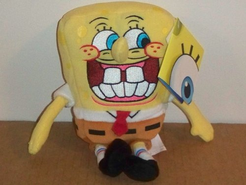 Buy Low Price Jakks Pacific SpongeBob SquarePants 8″ Collectible Plush Figure- SpongeBob SmileyPants (B00493D3OY)