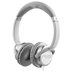 NoiseHush NX26 3.5mm Stereo Headphones with In-Line Mic - White - Retail