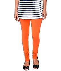 Perfect Collections Women Cotton Legging (Color: Orange, Size: Free Size)