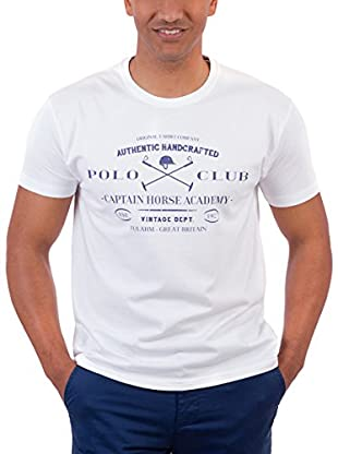 Polo Club Camiseta Manga Corta Academy Vintage (Blanco)