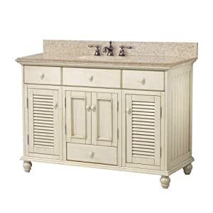 foremost ctaabg4922d cottage 49 inch width x 22 inch depth vanity with beige granite top. Black Bedroom Furniture Sets. Home Design Ideas