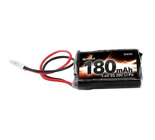 Dynamite 7.4V 180mAh 2S 20C Li-Po: Losi Micros DYN1429