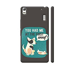Colorpur You Had Me At The First Woof Designer Mobile Phone Case Back Cover For Lenovo K3 Note | Artist: UtART