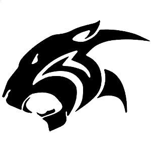Wildcat Tribal Jaguar Decal Sticker Black 5 Inch
