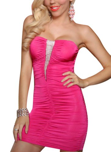 Rain&Mary Woman Sexy Mini Slim Dress Clubwear Party Sleeveless Bra Dress Rose