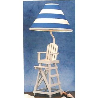 lifeguard beach chair lamp table desk life guard decor. Black Bedroom Furniture Sets. Home Design Ideas