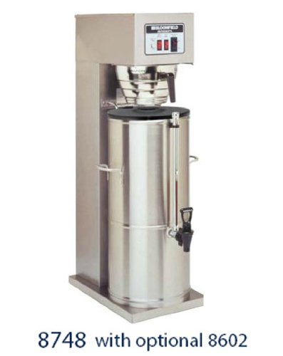 "Bloomfield 8748-5G Integrity Automatic Iced Tea Brewer, 5-Gallon, Single, Stainless Steel, 17"" Depth, 10 15/16"" Width, 32 1/4"" Height front-242010"