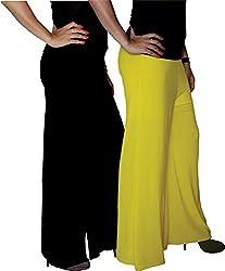 Xarans Sharara Stylish Looking Black & Yellow Palazzo