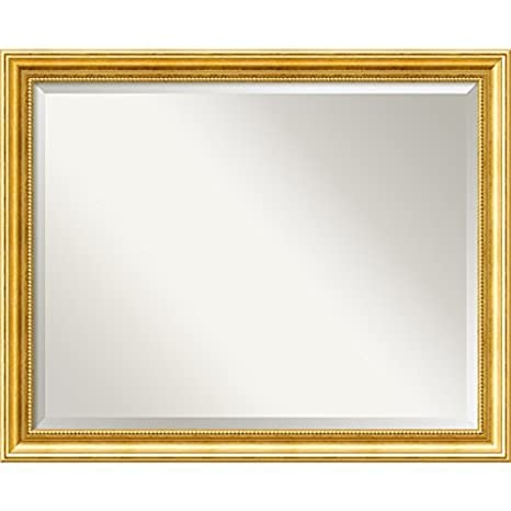 "Amanti Art 31"" x 25"" Townhouse Gold Wall Mirror, Large by Amanti Art"