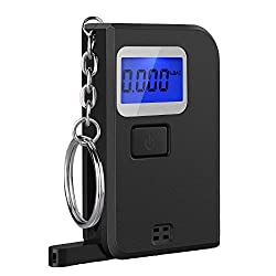 Pictek Mini Alcohol Tester, Portable Keychain Breathalyzer Digital Breath Keyring with 5 Mouthpieces