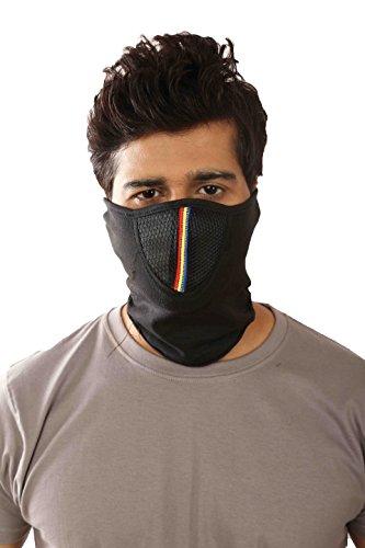 Half Face Bike Riding Mask (Black)