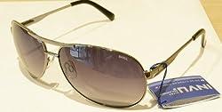 Invu Oval Sunglasses (Black) (B1403-B)