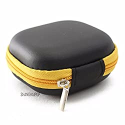 Small Cable Organizer Storage Bag Case Pouch Earphone USB Wire Cord (Yellow)