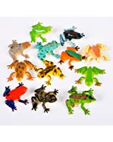 ~ 12 ~ Poison Dart Frogs ~ 1.5 Inch Plastic ~ NEW