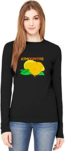 When Life Give You Lemons You Paint That Shit Gold T-Shirt da Donna a Maniche Lunghe Long-Sleeve T-shirt For Women  100% Premium Cotton  DTG Printing  Large