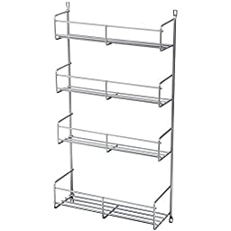 Knape & Vogt SR15-1-FN Door Mounted Spice Rack Cabinet Organizer, 20-Inch by 10.81-Inch by 3.88-Inch by Knape & Vogt