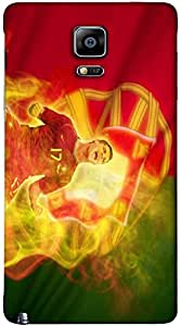 Outstanding 3D multicolor printed protective REBEL mobile back cover for Samsung Note-4 - D.No-DEZ-2106-n4