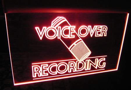 Voice Over Recording Sign