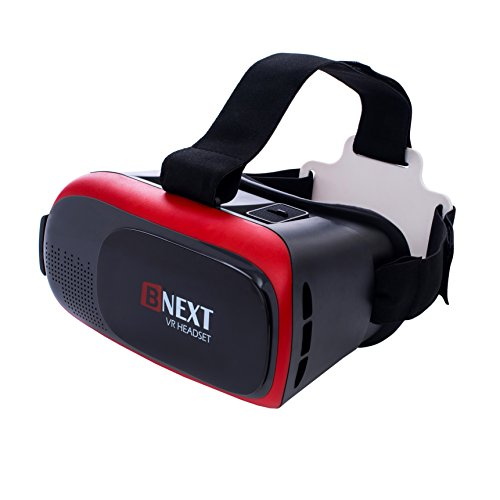 3D VR Headset Virtual Reality Glasses for iPhone & Android - Play Your Best Mobile Games & 360 Movies With Soft & Comfortable New Goggles Plus Special Adjustable Eye Care System (Note 4 Front Camera compare prices)