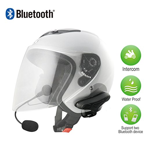 Avantree HM100P: Universal Bluetooth Motorcycle Helmet headset kit with dual speakers, Support wireless intercom Interphone, GPS A2DP stereo music stream; accordance withIPX6, water proof, specially designed for motorcycle rider. Compatible for iPh...