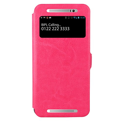 Jacket HTC One E8 Flip Cover, Slim Flip Case Cover, Protective and Stylish Case for HTC One E8 Dual Sim (Pink)  available at amazon for Rs.499