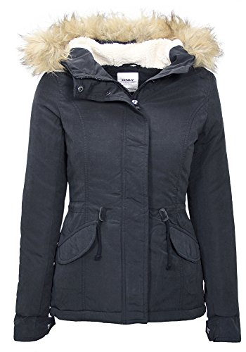 ONLY -  Giacca  - Parka - Basic - Maniche lunghe  - Donna Blu Grafito S