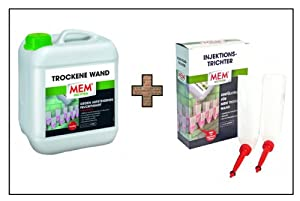 mem trockene wand damp proofing 5 l 6 funnel set. Black Bedroom Furniture Sets. Home Design Ideas