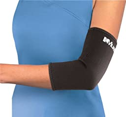 Mueller Elbow Sleeve, Neoprene, Black, Large