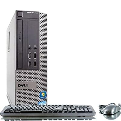 Dell Optiplex 390 Desktop PC - Intel Core i3-2100 3.1GHz 8GB 1TB hard dive DVD Windows 7 Pro (Certified Refurbished)