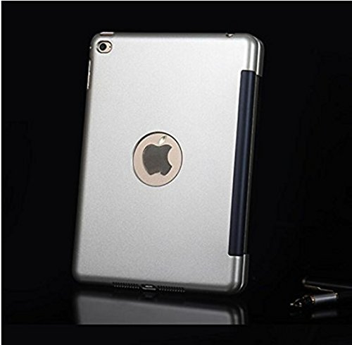 efluky iPad mini Bluetoothキーボードipad mini 4に対応 可移動的保護 SmartCover (シルバー)