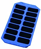 L�ku� Gourmet - Cubitera rectangular, 14 cavidades, color azul