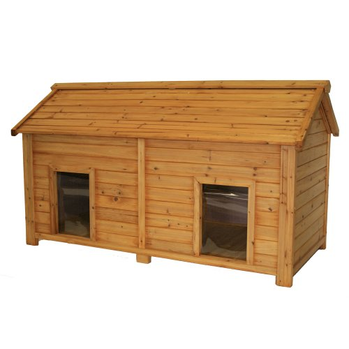 Amazoncom premium pet products systems simply cedar for Large duplex dog house