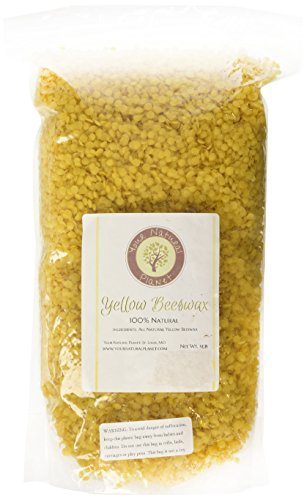 Your Natural Planet 3 POUND BEESWAX PELLETS, YELLOW - Must Have Item For DO IT YOURSELF Projects, Including Lotions, Salves, Body Butters, Deodorant, Lip Balm, Candle Making and Furniture Polish.