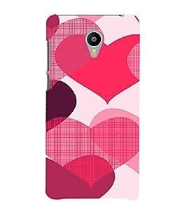 EPICCASE Big Heart Mobile Back Case Cover For Meizu m2 Note (Designer Case)