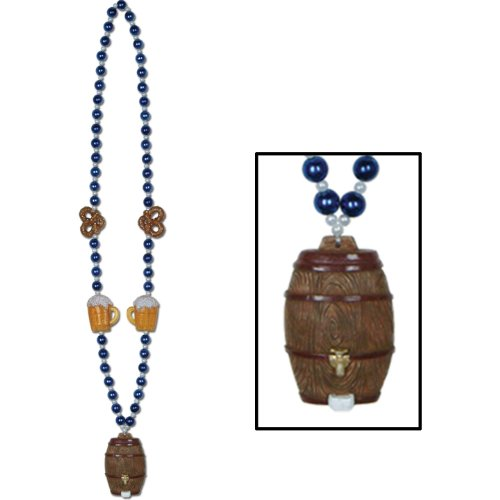 Oktoberfest Beads w/Keg Medallion (internet friendly) Party Accessory  (1 count)