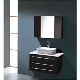 "Ivy Single 31.5"" Bathroom Vanity Set in Black"