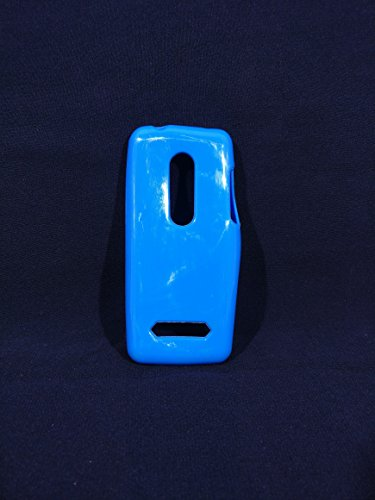 iCandy™ Colorfull Thin Soft TPU Back Cover For Nokia Asha 206 - Turquoise  available at amazon for Rs.109