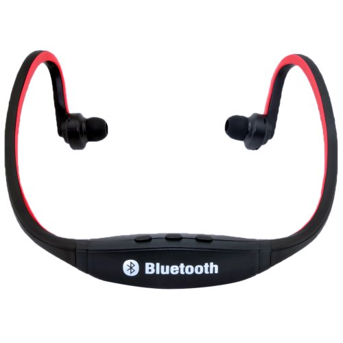 Victsing Red Behind The Ear Bluetooth Earbud Headphones Wireless Music Streaming Headset For Iphone 5S 5C 5 4S 4 Ipad 4 3 2 1 Ipad Mini Sony Xperia Z Xl39H Xperia Z Ultra Xl39H Htc One M7 Htc One Mini Samsung Galaxy S4 S3 S2 Note 2 Smart Phones And Pc Tab
